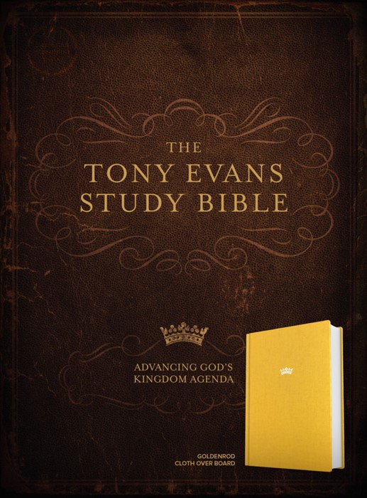 CSB Tony Evans Study Bible, Goldenrod Cloth over Board (Hard Cover)
