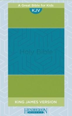 KJV Kids Bible, Blue/Green (Flexiback)