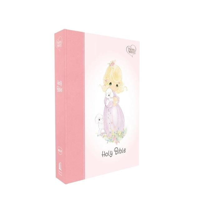 NKJV Precious Moments Small Hands Bible, Pink (Hard Cover)