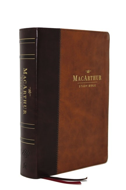ESV MacArthur Study Bible, 2nd Edition, Brown, Indexed (Imitation Leather)