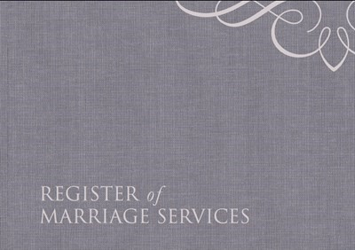 Register of Marriage Services (Hard Cover)