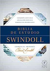 Biblia de estudio Swindoll NTV, Tapa dura, Azul, Índice (Hard Cover)