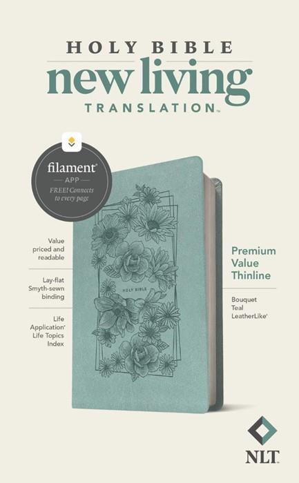 NLT Premium Value Thinline Bible, Filament Edition, Teal (Imitation Leather)