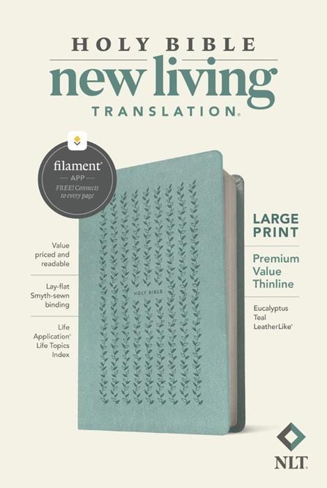NLT Large Print Premium Value Thinline Bible, Filament (Imitation Leather)