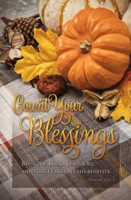 Count Your Blessings Thanksgiving Bulletin (100 pack) (Bulletin)