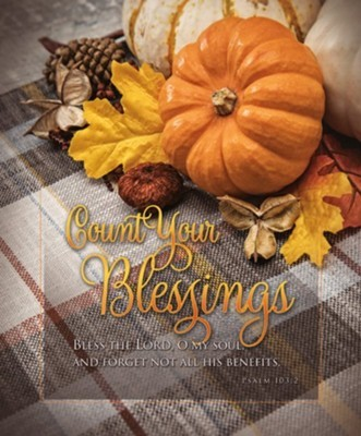 Count Your Blessings Thanksgiving Large Bulletin (100 pack) (Bulletin)