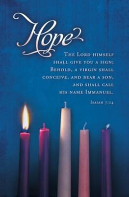 Hope Advent Candles Bulletin (100 pack) (Bulletin)