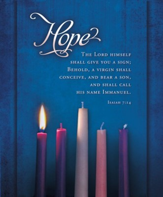 Hope Advent Candles Large Bulletin (100 pack) (Bulletin)