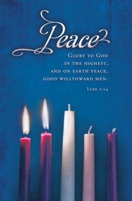 Peace Advent Candles Bulletin (100 pack) (Bulletin)