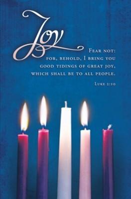Joy Advent Candles Bulletin (100 pack) (Bulletin)