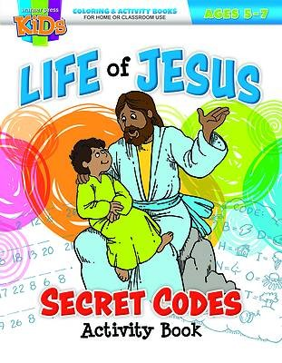 The Life of Jesus Secret Codes Coloring Activity Book (Paperback)