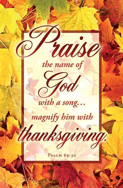 Praise the Name of God Thanksgiving Bulletin (pack of 100) (Bulletin)