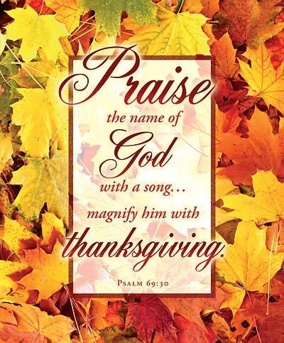Praise the Name of God Thanksgiving Large Bulletin (100) (Bulletin)
