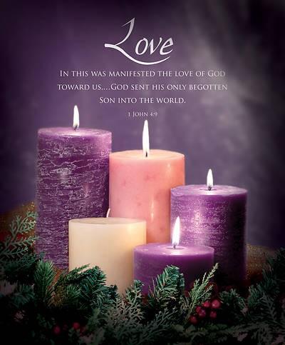 Love Advent Large Bulletin (pack of 100) (Bulletin)