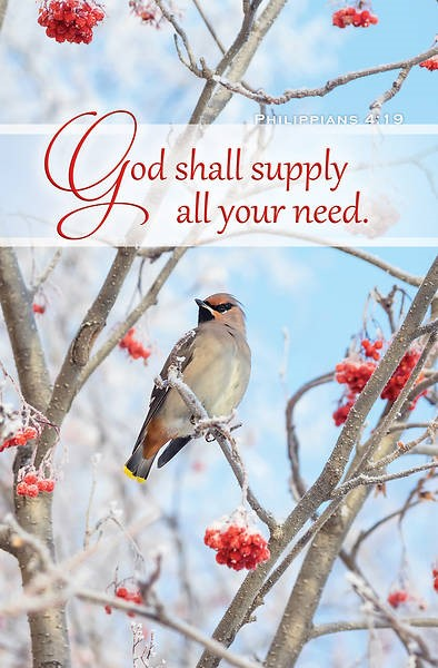 God Shall Supply Your Need Inspirational Bulletin (100 pack) (Bulletin)