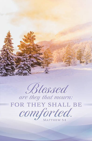 For They Shall be Comforted Funeral Bulletin (pack of 100) (Bulletin)