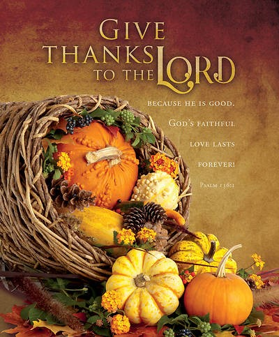 Give Thanks to the Lord Large Bulletin (pack of 100) (Bulletin)