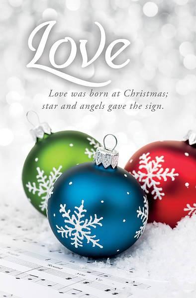 Love was Born Advent Bulletin (pack of 100) (Bulletin)