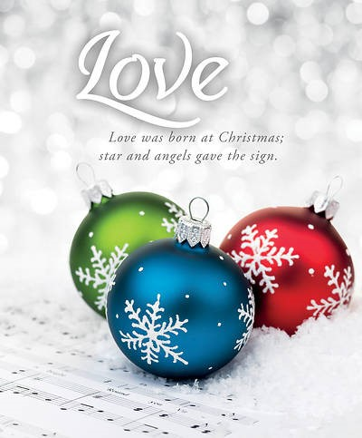 Love Was Born Advent Large Bulletin (pack of 100) (Bulletin)