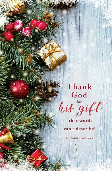 Thank God for His Gift Christmas Bulletin (pack of 100) (Bulletin)