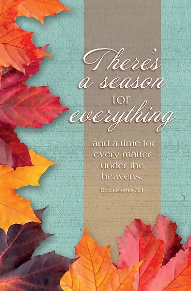 Season For Everything Fall Bulletin (pack of 100) (Bulletin)