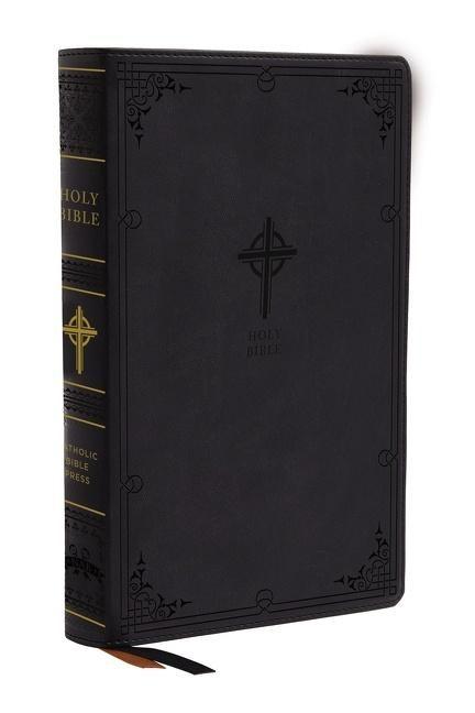 NABRE Catholic Bible, Large Print, Black, Thumb Indexed (Imitation Leather)