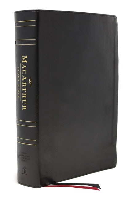 NASB MacArthur Study Bible, Black, Thumb Indexed (Genuine Leather)