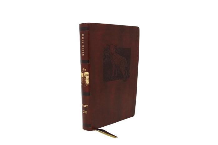 NET Bible Thinline Art Edition, Large Print, Brown (Imitation Leather)