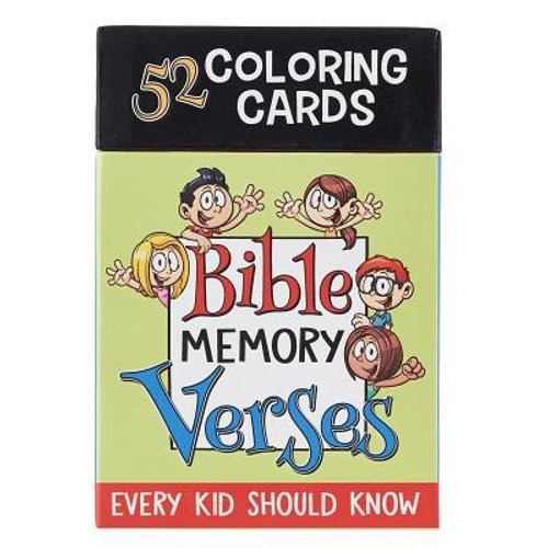 Colouring Cards: Bible Memory Verses (General Merchandise)
