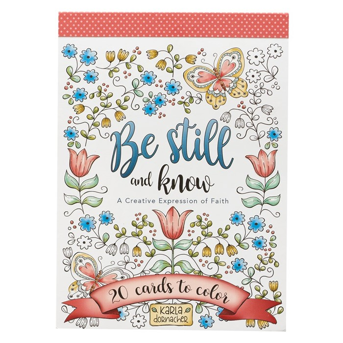 Coloring Card Book: Be Still and Know (Paperback)