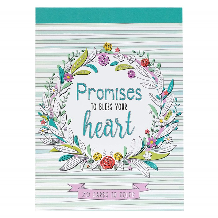Coloring Card Book: Promises to Bless (Paperback)