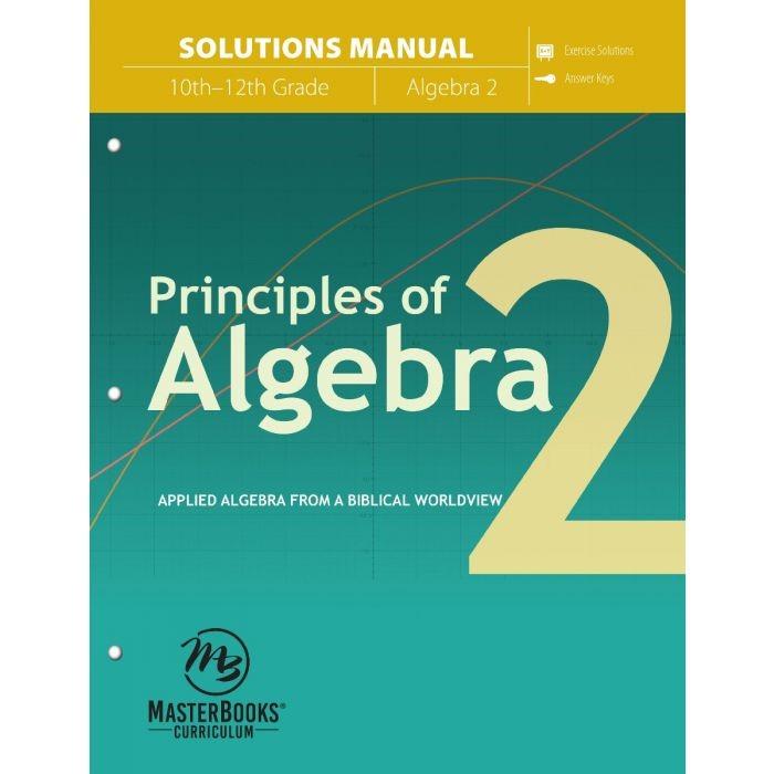 Principles of Algebra 2 (Solutions Manual) (Paperback)