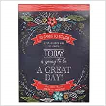 Coloring Card Book: Today is Going to be a Great Day! (Paperback)