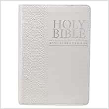KJV Pocket Bible, White (Imitation Leather)