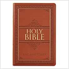 KJV Large Print Thinline Bible, Tan, Thumb Indexed (Imitation Leather)