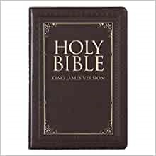 KJV Large Print Thinline Bible, Brown, Thumb Indexed (Imitation Leather)