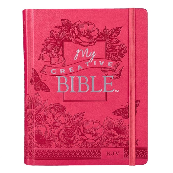 KJV My Creative Bible, Pink Faux Leather Hardcover (Hard Cover)