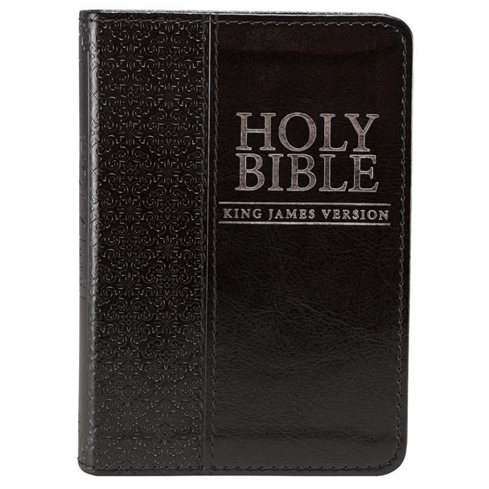 KJV Mini Pocket Bible, Black (Imitation Leather)