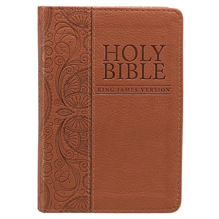 KJV Mini Pocket Bible, Tan (Imitation Leather)
