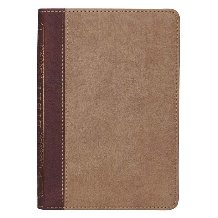 KJV Compact BIble, Brown Two Tone (Imitation Leather)