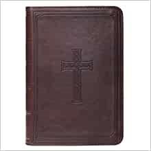 KJV Large Print Compact Bible, Brown (Imitation Leather)