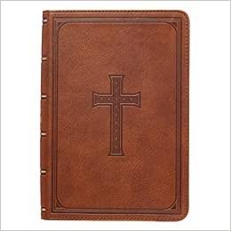 KJV Large Print Compact Bible, Tan (Imitation Leather)