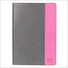 KJV Super Giant Print Bible, Grey/Pink (Imitation Leather)