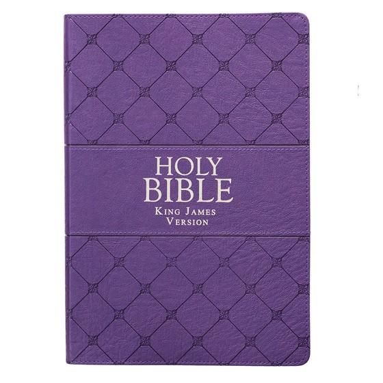 KJV Super Giant Print Bible, Purple (Imitation Leather)