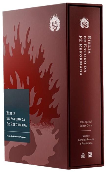 ARA A Bíblia de Estudo da Fé Reformada, capa dura bordô (Hard Cover)