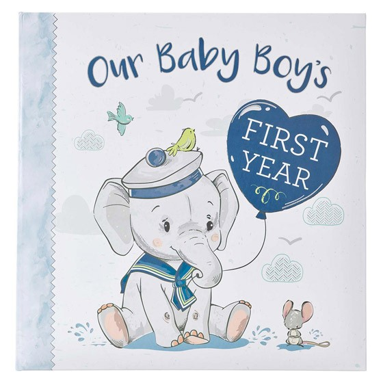 Our Baby Boy's First Year (Hard Cover)