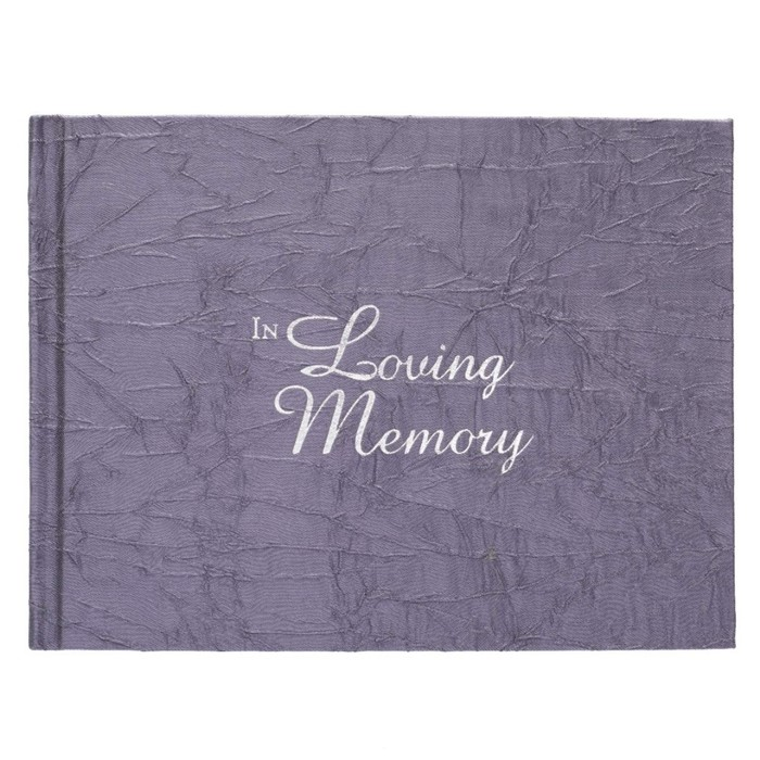 In Loving Memory Charcoal  Guest Book (Hard Cover)