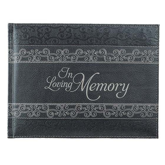 In Loving Memory Charcoal Guest Book (Imitation Leather)