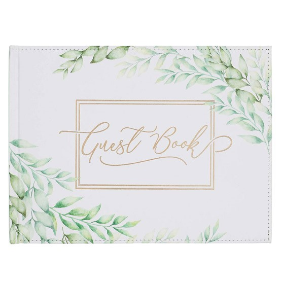 Leaves Guest Book (Imitation Leather)