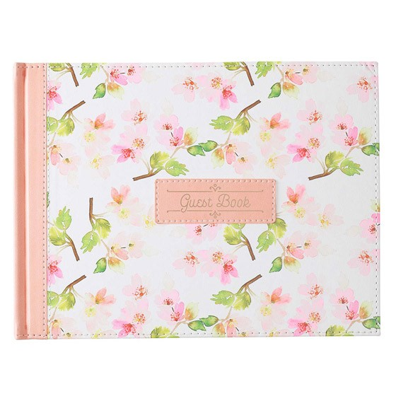 Floral Guest Book (Imitation Leather)